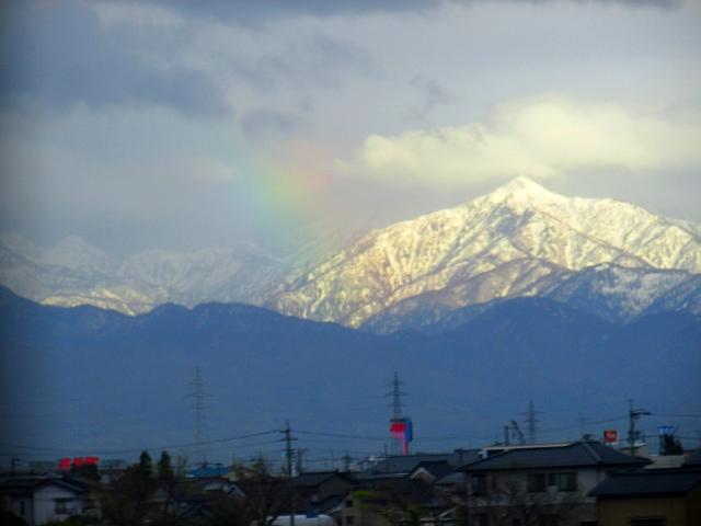 雪山と虹_補正2