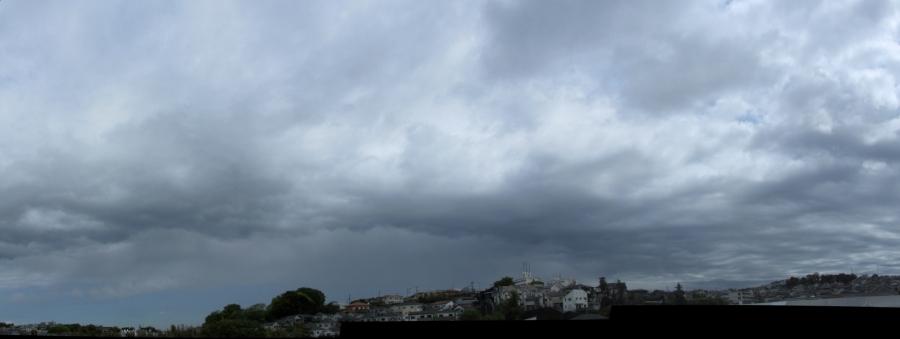 ピンポイントの雨雲