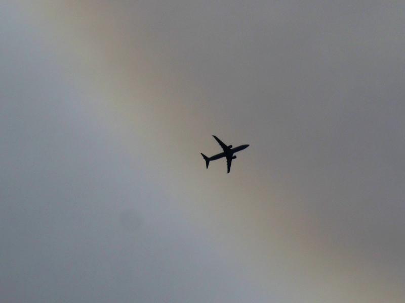 日暈と飛行機