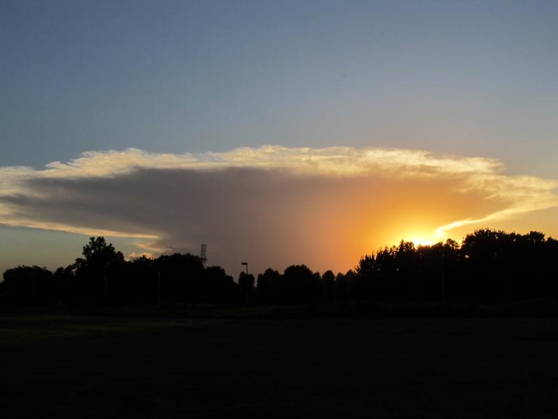 黄金色のかなとこ雲
