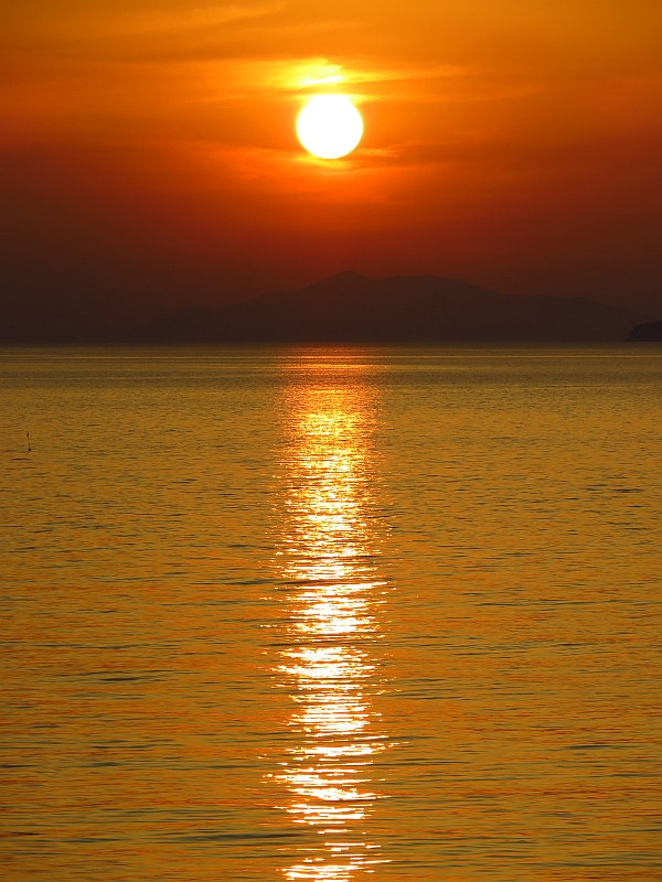 双海町の夕日