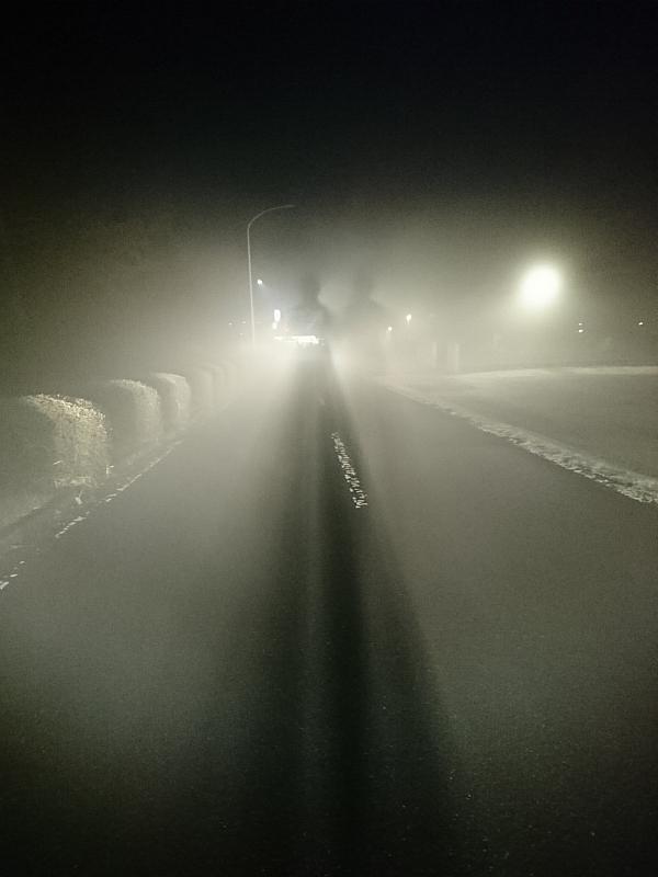車のライトでブロッケン