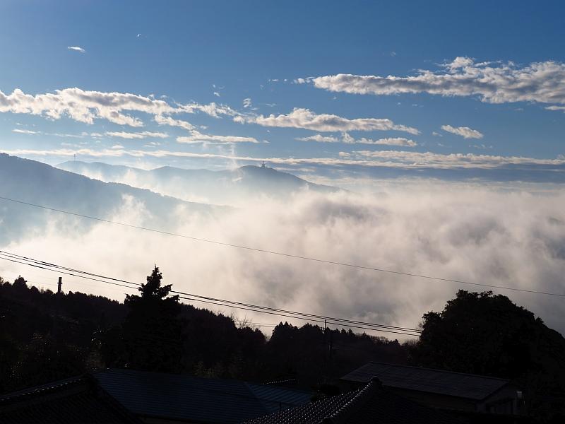 筑波山中腹から見えた雲海