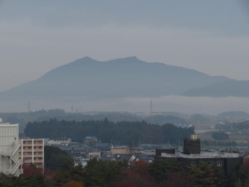 筑波山のふもとの層雲