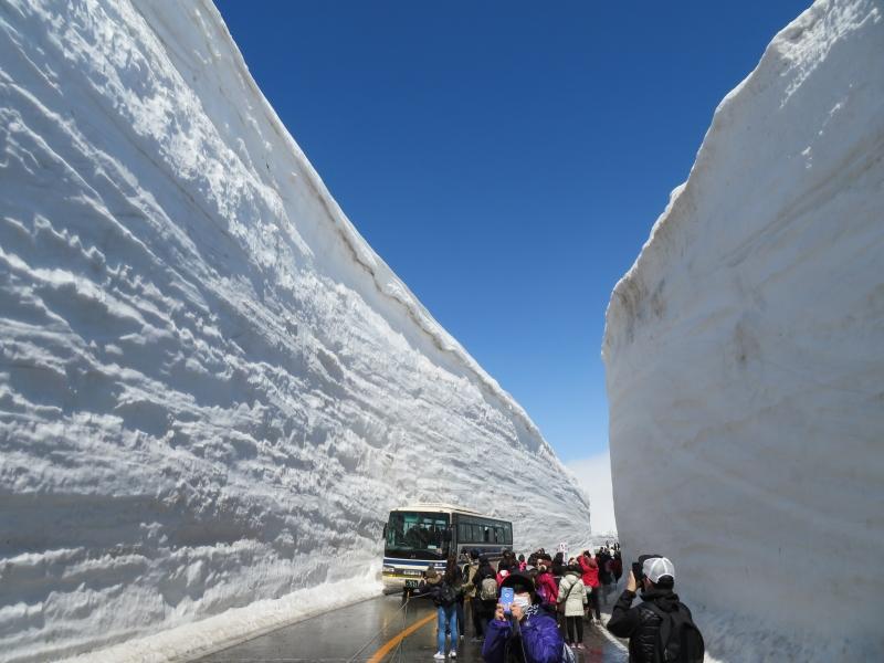 2019年の雪の大谷