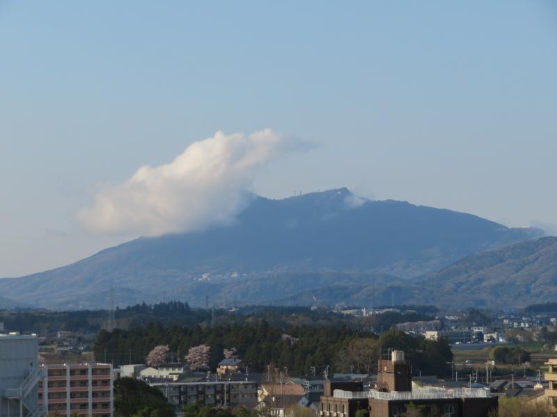 筑波山が作る雲